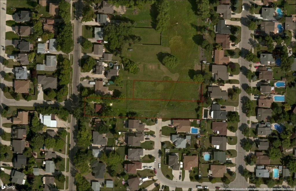 BingBasemap of 869 Elmhurst Project Site